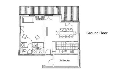 Alexandria Chalet Ground Level Floor Plan in Ste Foy