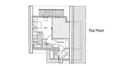 Alexandria Chalet Top Level Floor Plan in Ste Foy