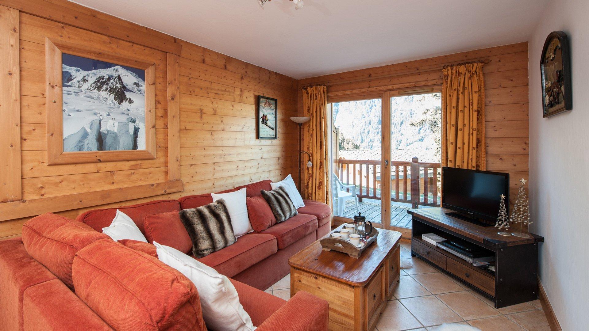 Living room of Andree Apt in Ste Foy