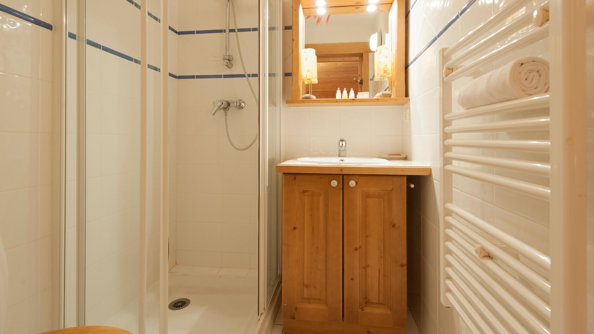 Ensuite Shower Room in Sainte Foy Apt. in Ste Foy