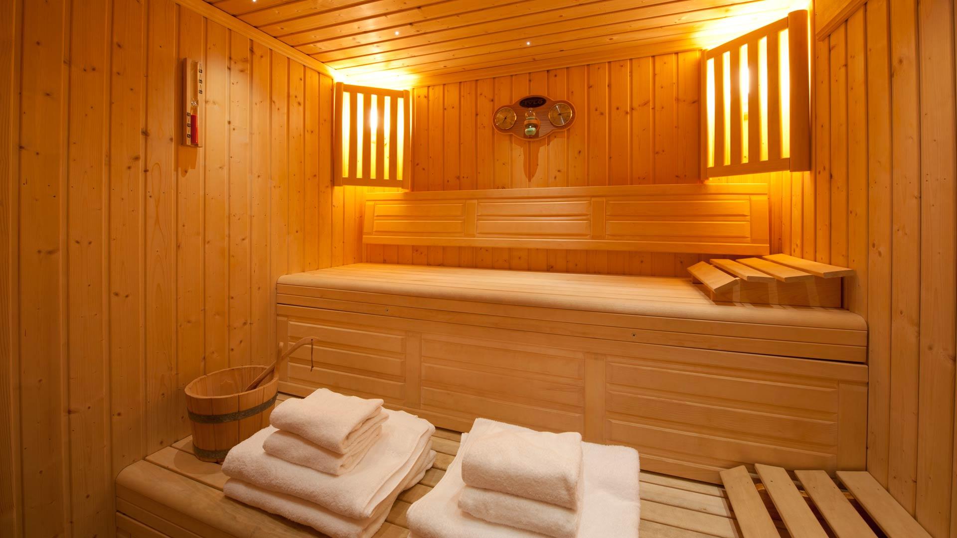 Sauna in Cheval Blanc Chalet in Ste Foy