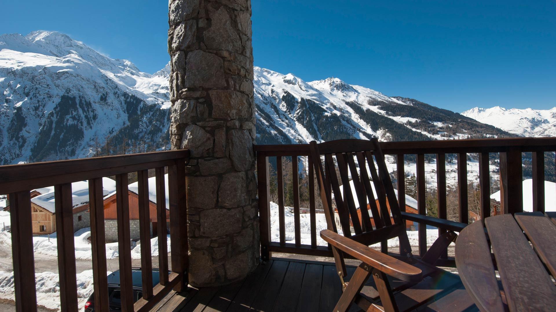 Balcony in Cheval Blanc Chalet in Ste Foy