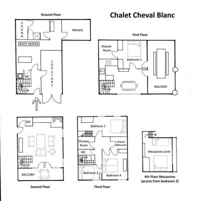 Cheval Blanc Chalet Floor Plan in Ste Foy