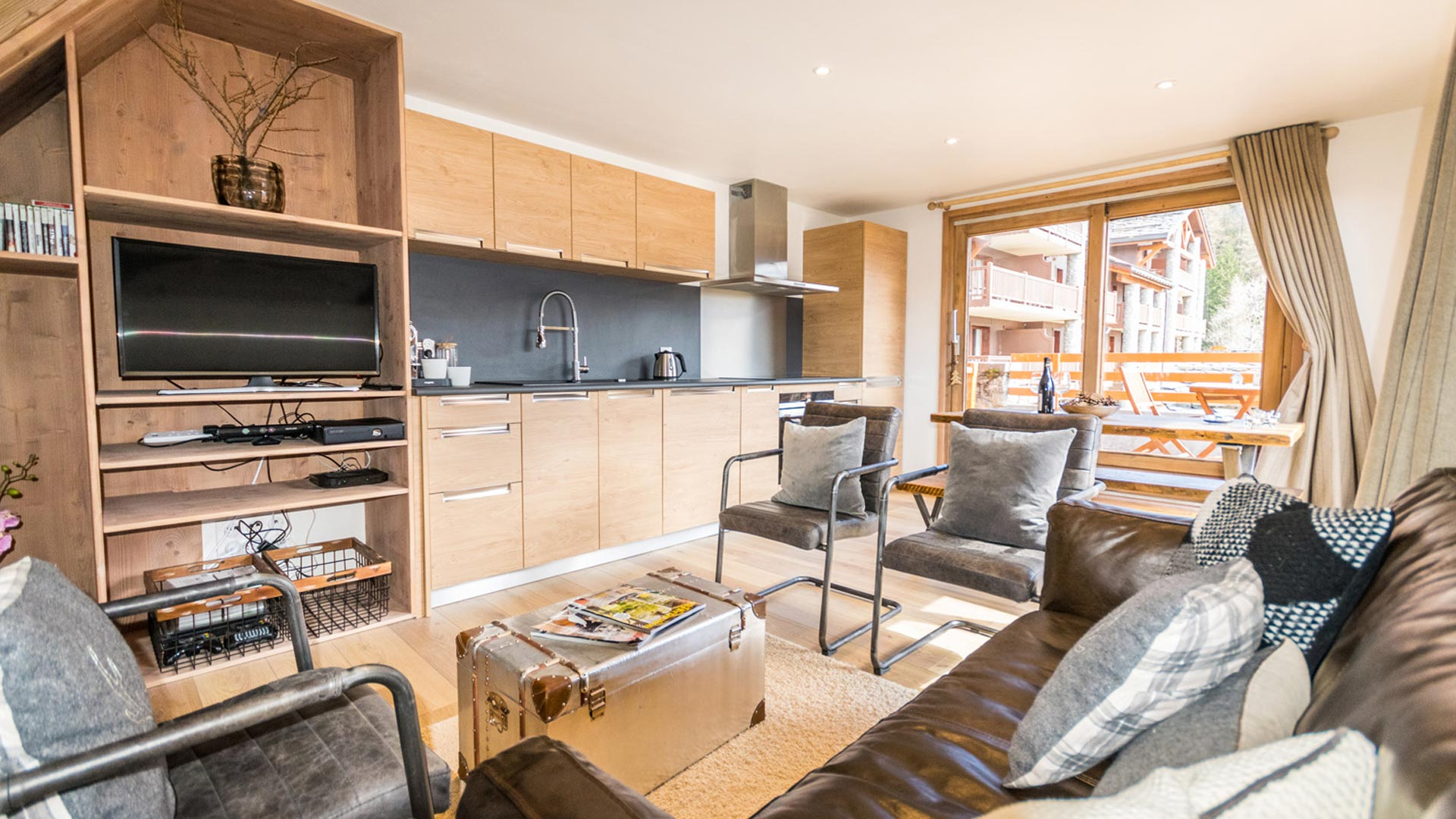 Living Area in Flocon De Neige Apartment in Ste Foy