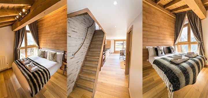 2 Double Bedrooms in Flocon De Neige Apartment in Ste Foy