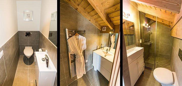 Toilets & shower rooms in Flocon De Neige Apartment in Ste Foy
