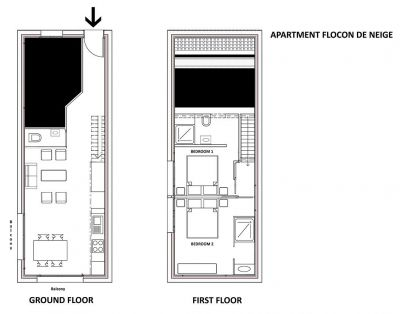 Flocon De Neige Apartment Floor Plan in Ste Foy