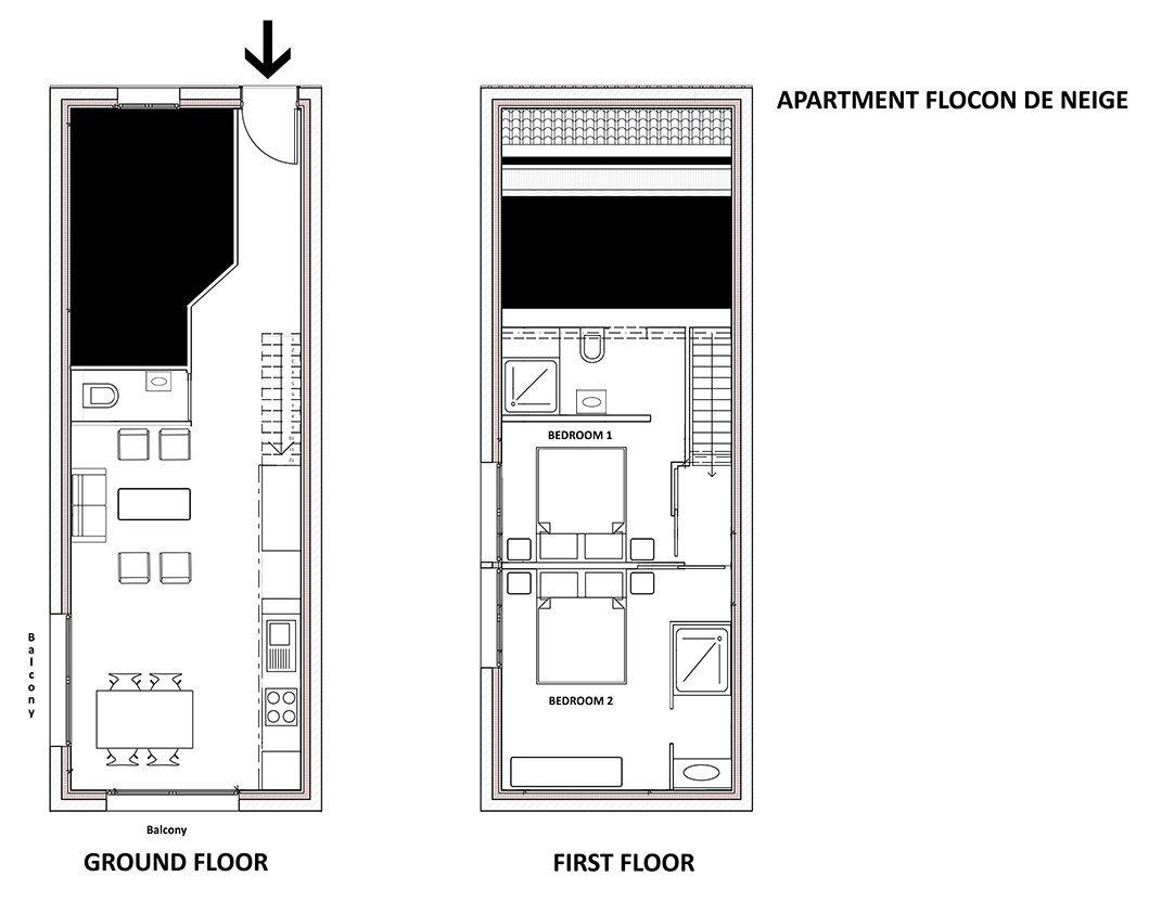 Flocon De Neige Apartment Floor Plan in Ste Foy