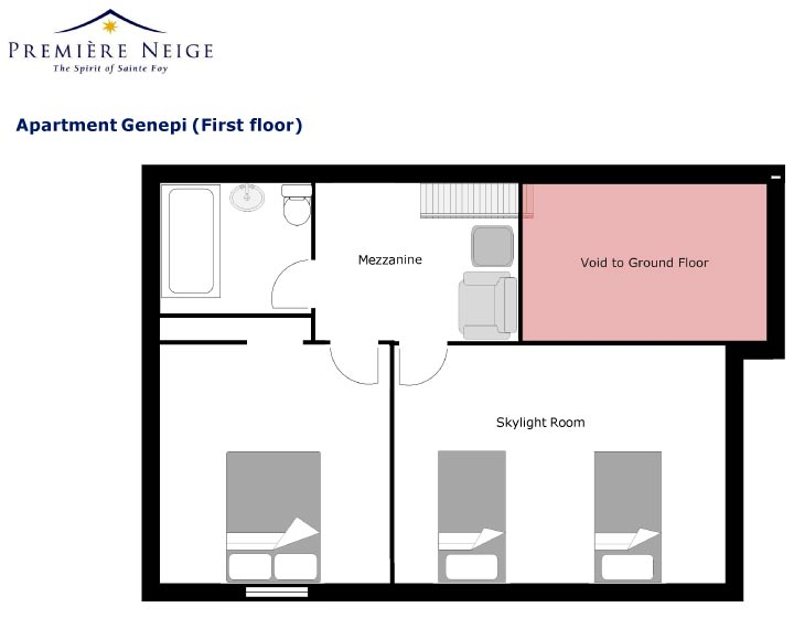 Genepi Apartment First level Floor Plan in Ste Foy