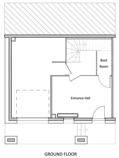 Grand Solliet Chalet Ground Level Floor Plan in Ste Foy