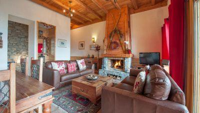 Living Area in La Cascade Apartment in Ste Foy