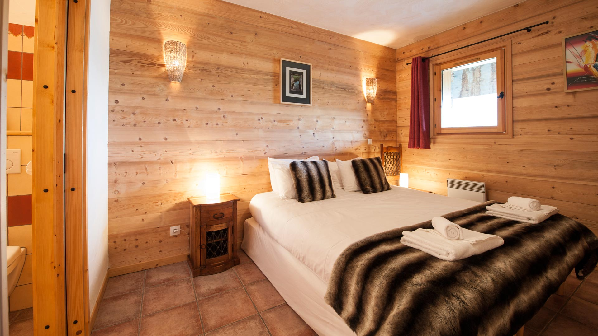 Double Bedroom in La Cascade Apartment in Ste Foy