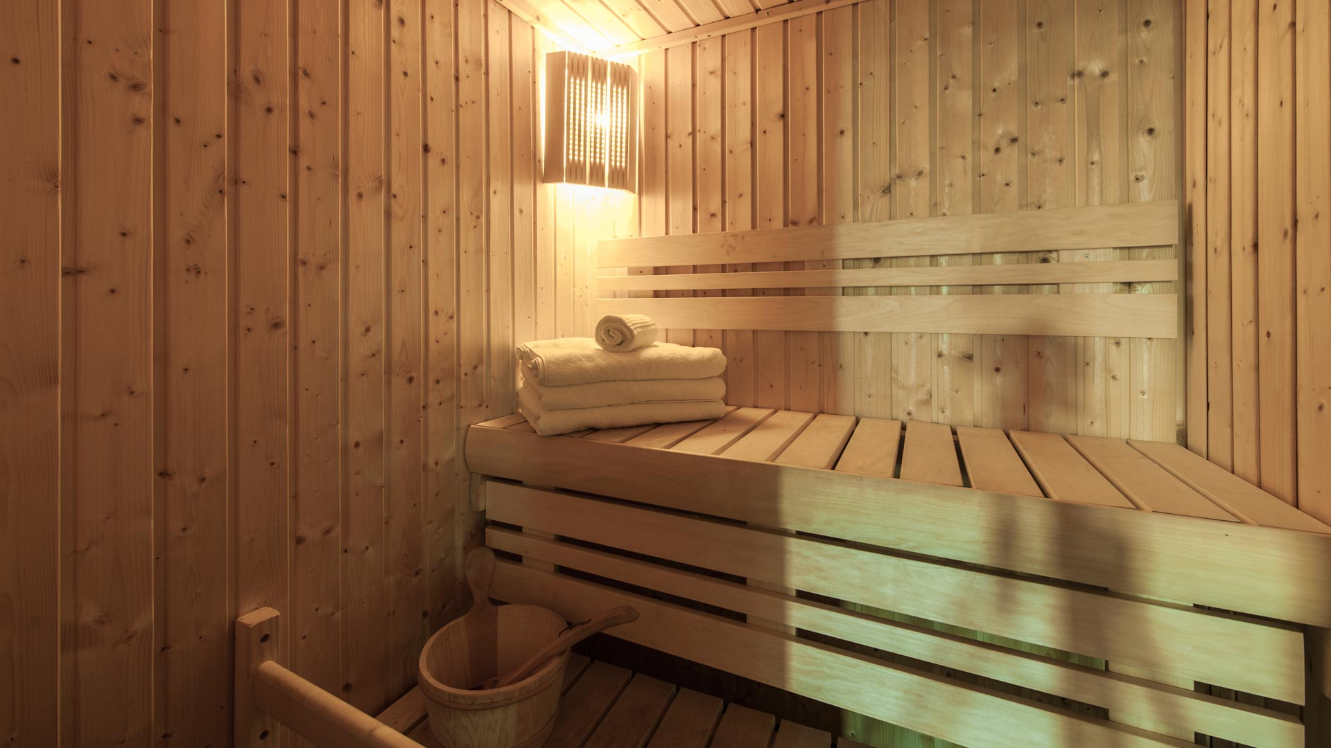 Sauna in La Cascade Apartment in Ste Foy
