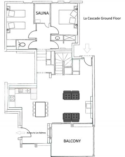 La Cascade Apartment Ground Level Floor Plan in Ste Foy