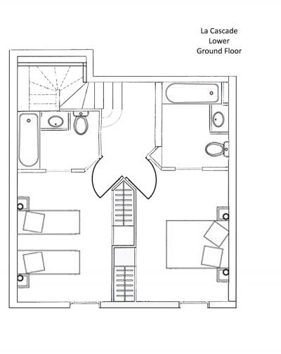 La Cascade Apartment Lower Ground Level Floor Plan in Ste Foy