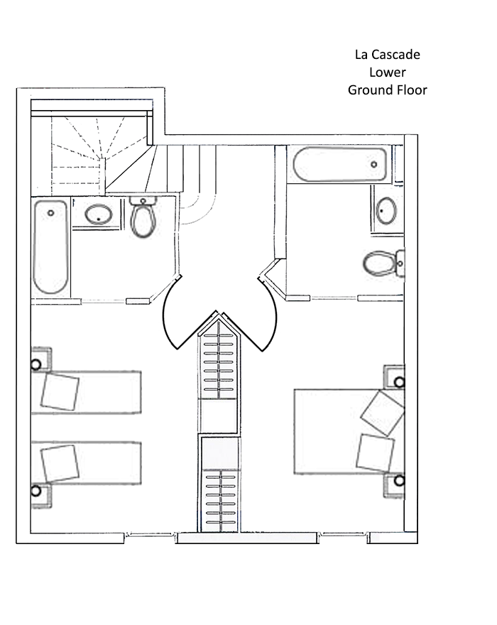 La Cascade Apartment Lower Ground Level Floor Plan in Ste Foy
