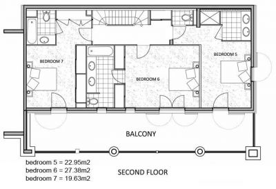 La Marquise Chalet Second level Floor Plan in Ste Foy