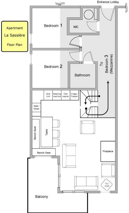 La Sassière Apartment Floor Plan in Ste Foy