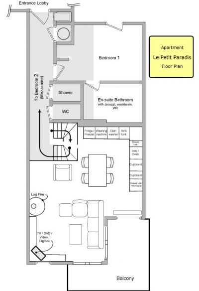 Le Petit Paradis Apartment Floor Plan in Ste Foy