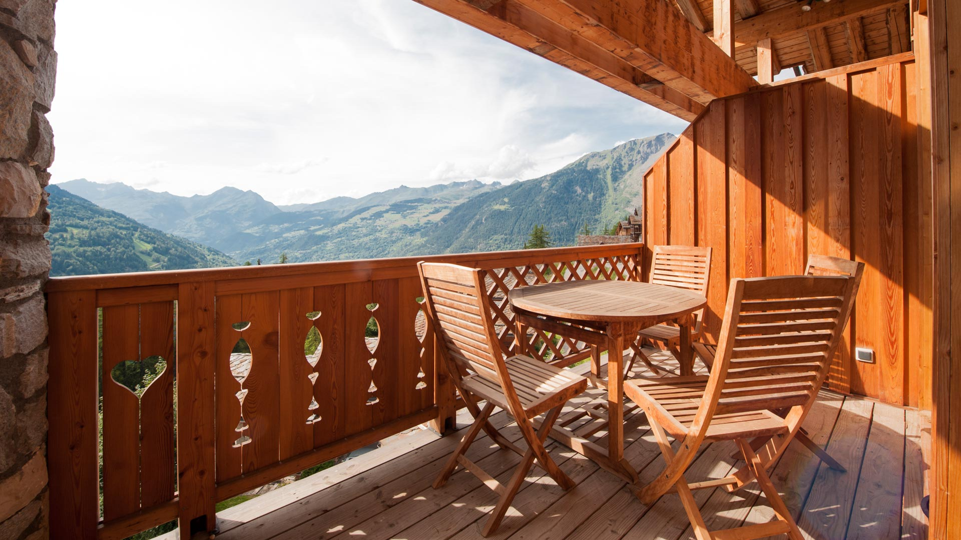 Balcony in Le Rocher Blanc Apartment in Ste Foy