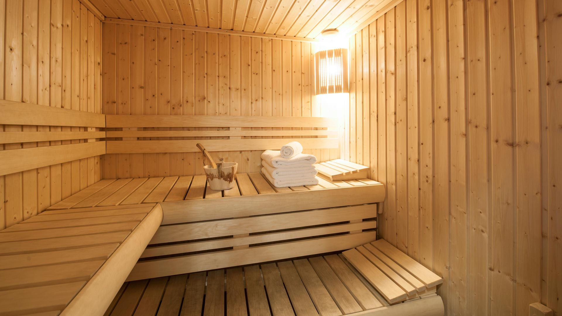 Sauna in Les Balmes Apartment in Ste Foy
