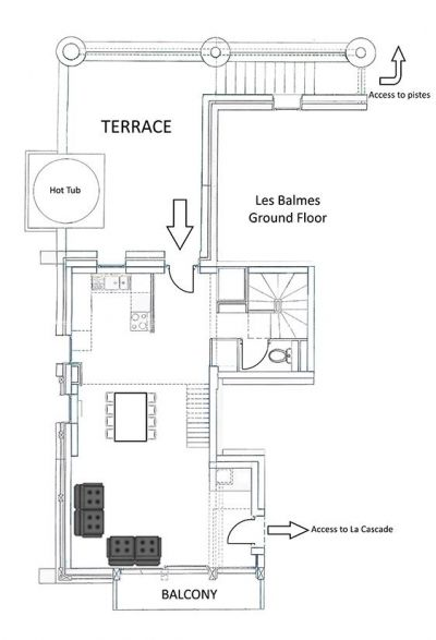 Les Balmes Apartment Ground Level Floor Plan in Ste Foy