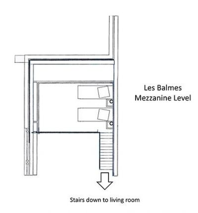 Les Balmes Apartment Mezzanine Level Floor Plan in Ste Foy