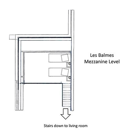 Les Balmes Apartment Mezzanine Level Floor Plan in Ste Foy