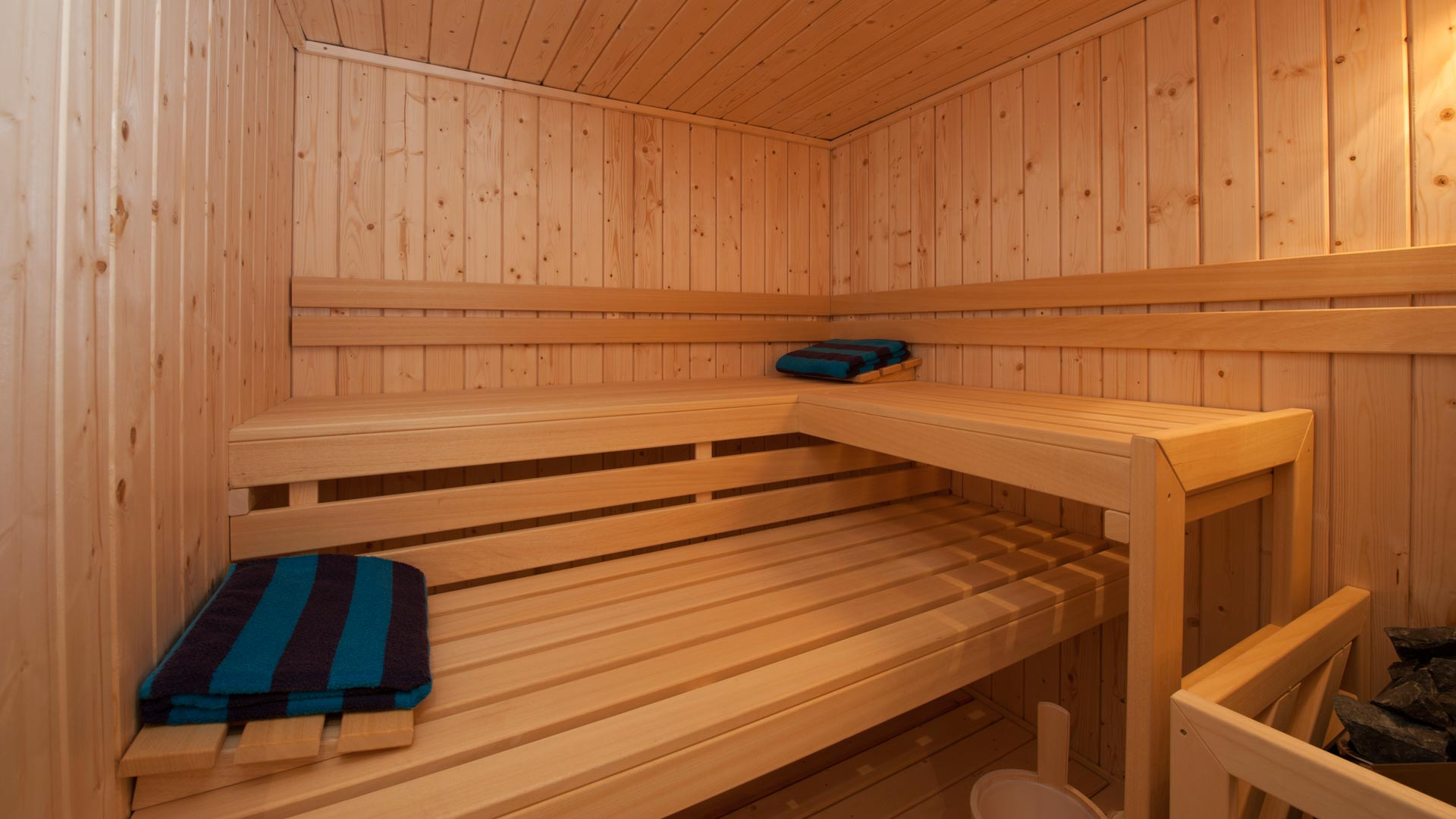 Sauna in La Marquise Chalet in Ste Foy