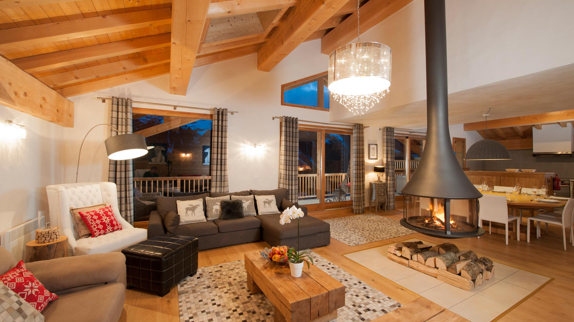 Living Area in La Marquise Chalet in Ste Foy