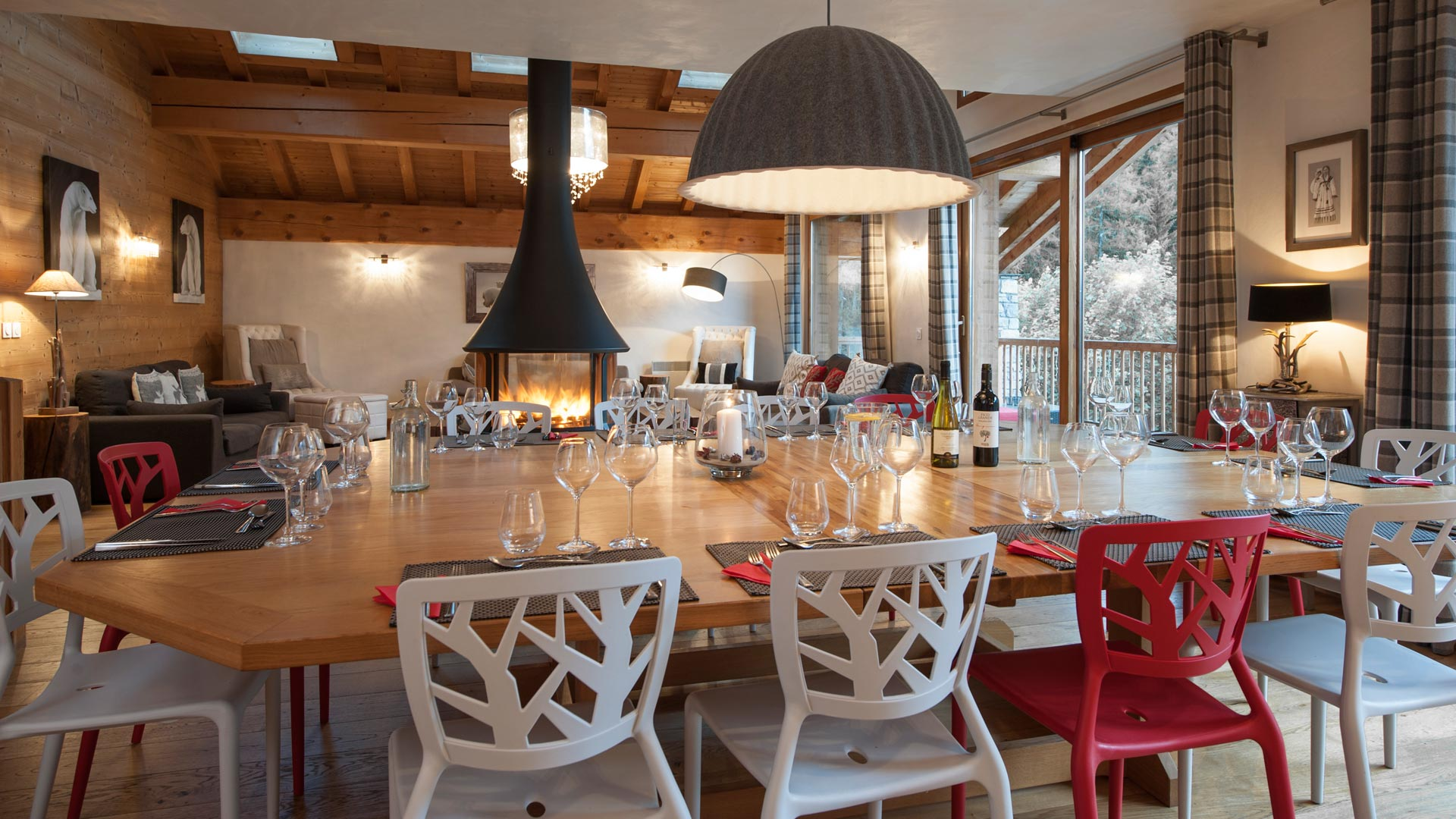 Dining Area in La Marquise Chalet in Ste Foy