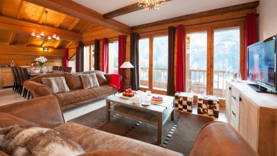 Living Area in The North Face Chalet in Ste Foy