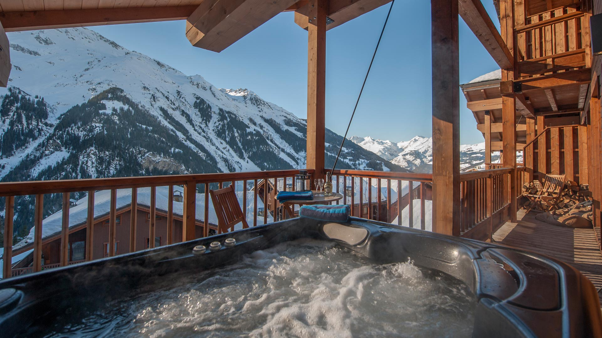 Hot Tub in The North Face Chalet in Ste Foy