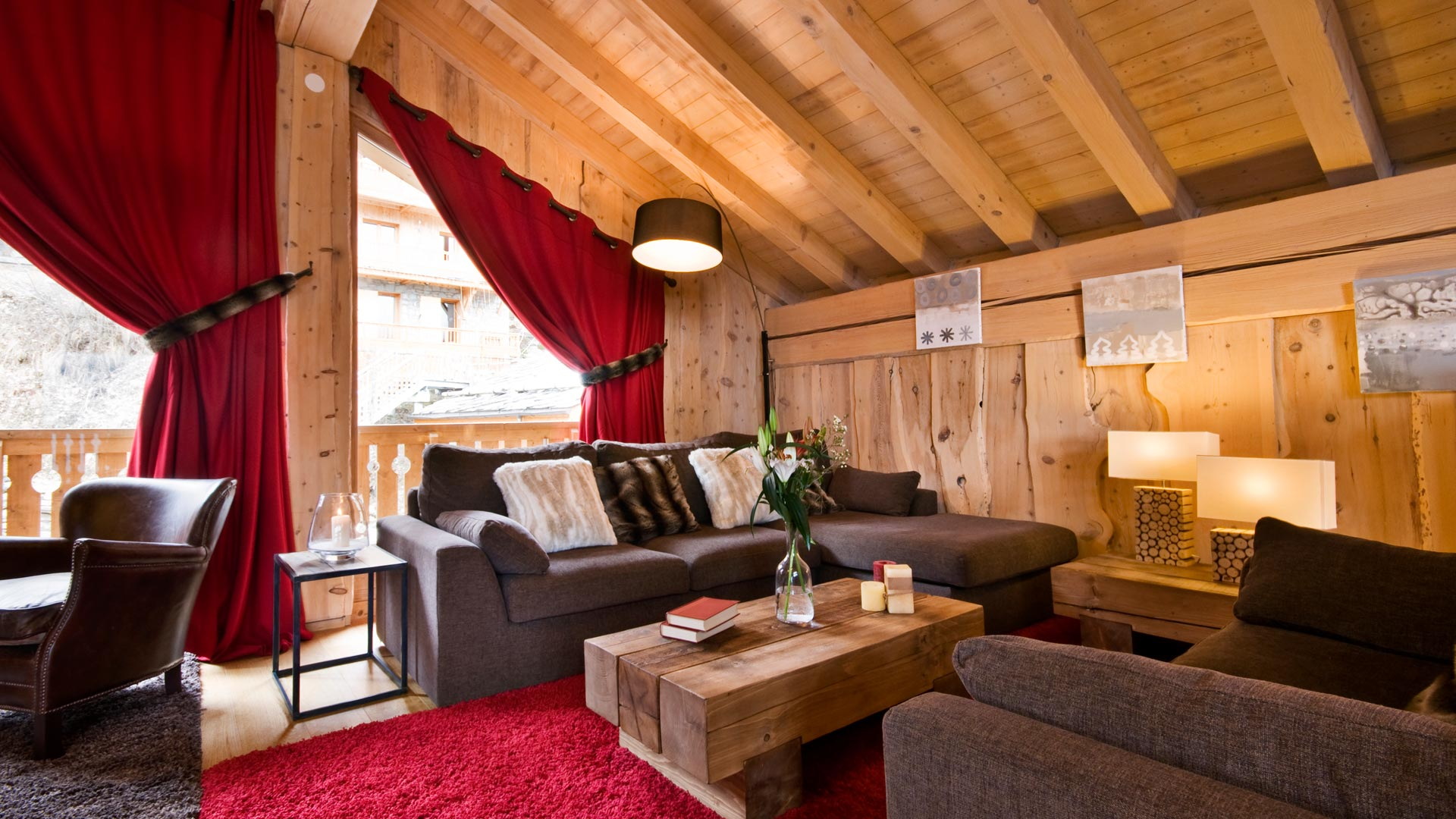 Living Area in The Peak Chalet in Ste Foy