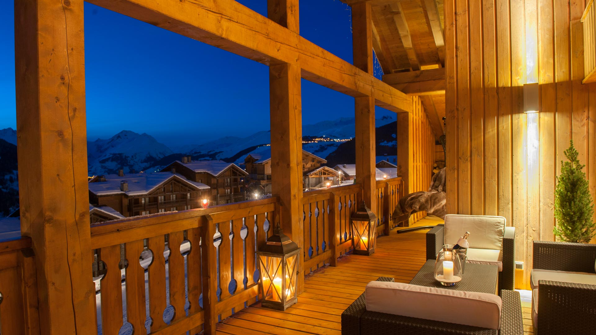 Balcony in The Peak Chalet in Ste Foy