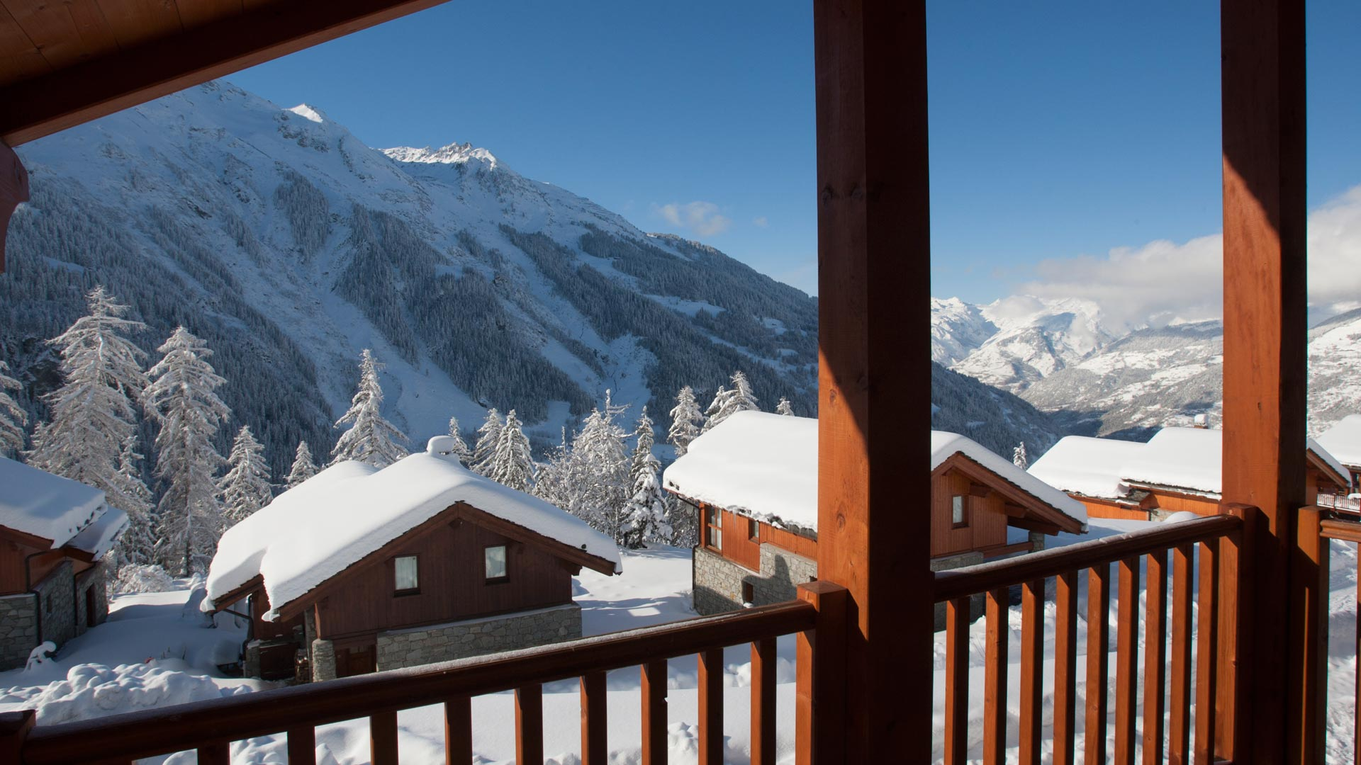 View From the Balcony in Le Petit Paradis Apartment in Ste Foy