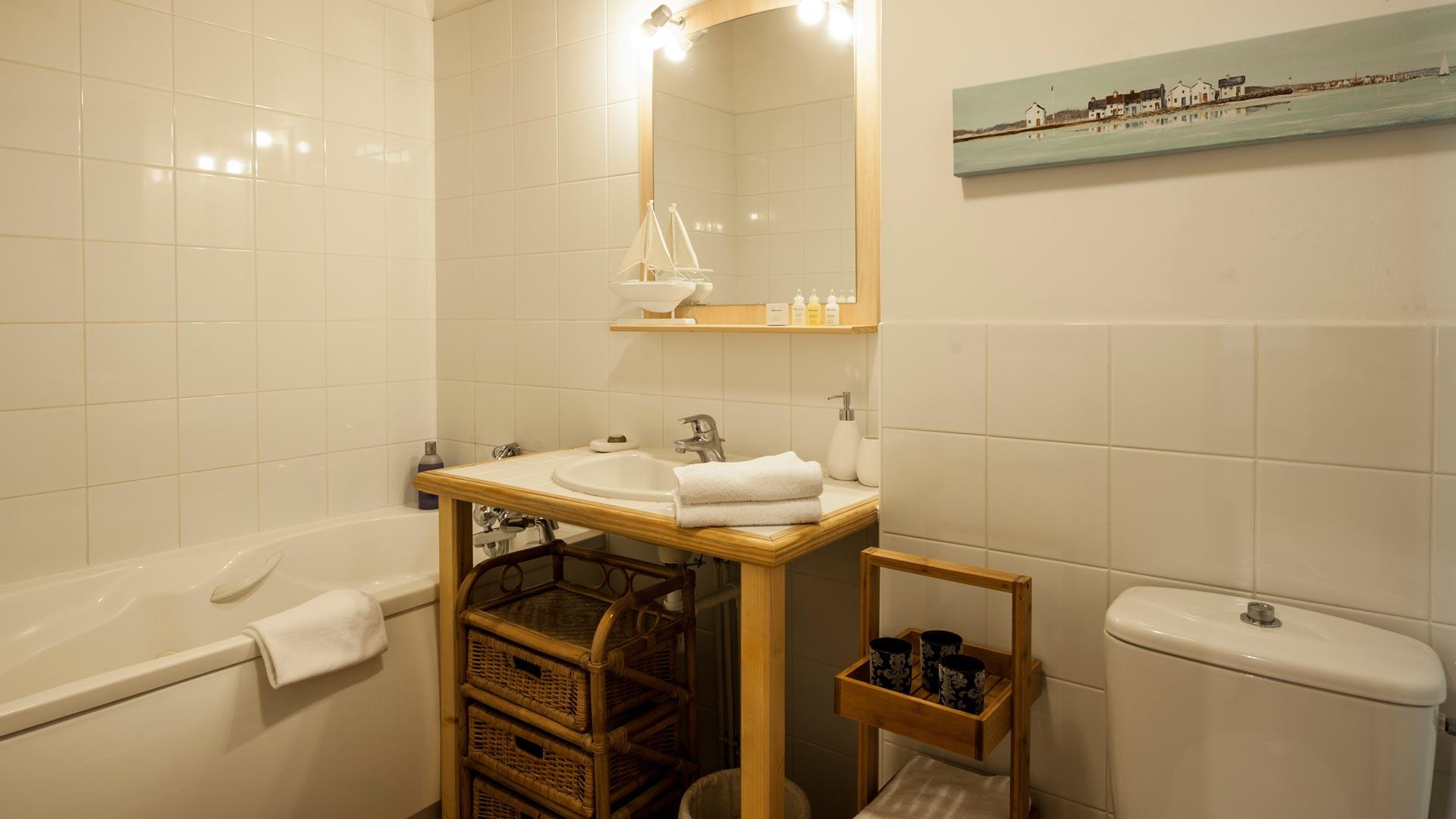 Bathroom in Le Petit Paradis Apartment in Ste Foy