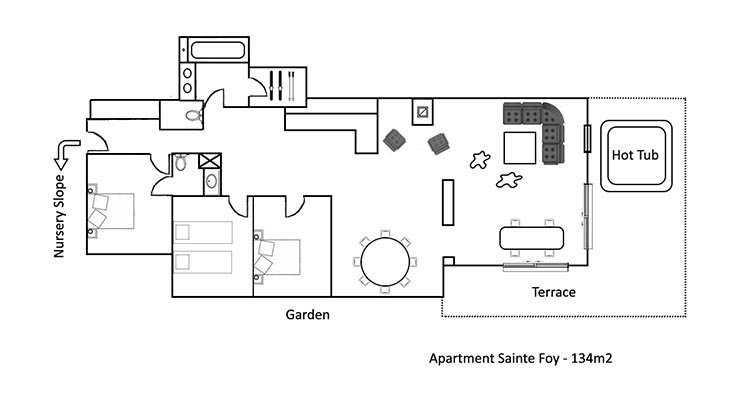 Sainte Foy Apartment Floor Plan in Ste Foy