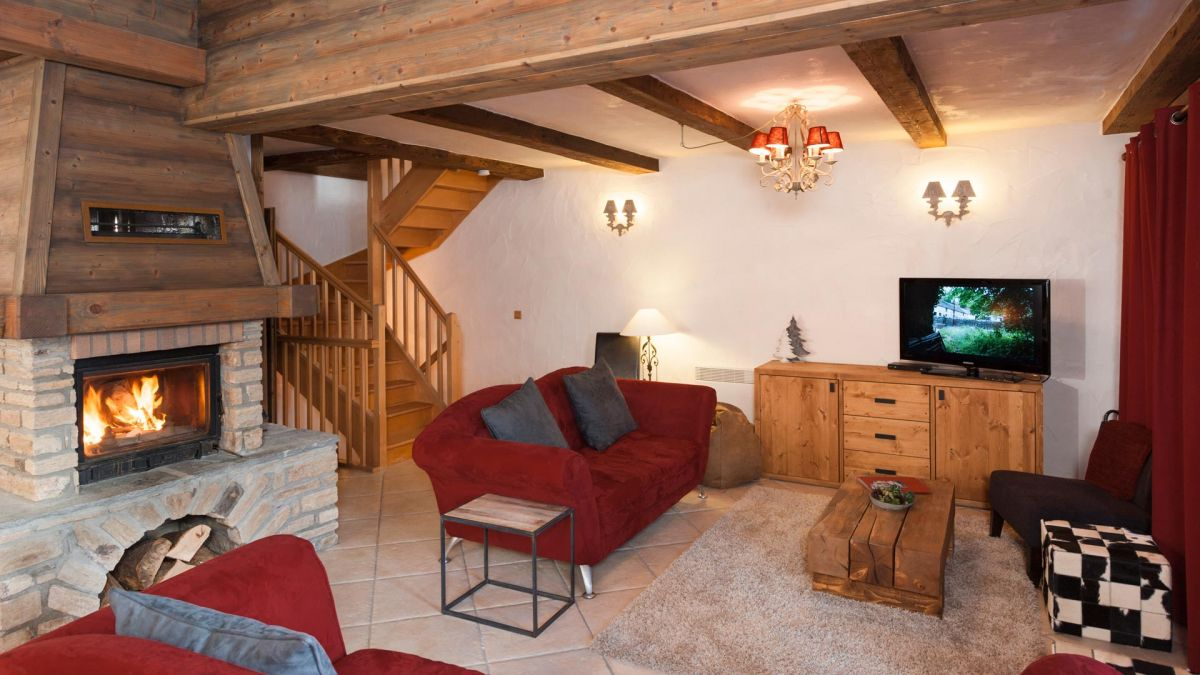 Living Area in The South Face Chalet in Ste Foy