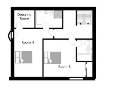 The North Face Chalet Second Level Floor Plan in Ste Foy