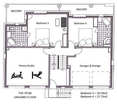 The Peak Chalet Ground Floor Plan in Ste Foy
