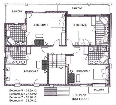 The Peak Chalet First Floor Plan in Ste Foy