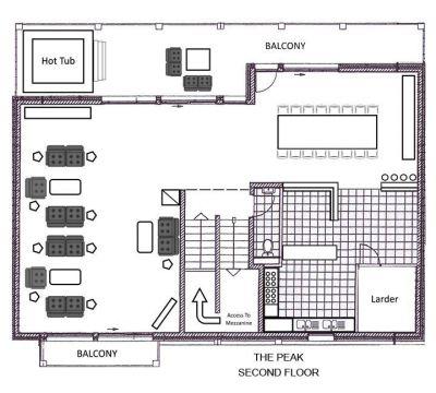 The Peak Chalet Second Floor Plan in Ste Foy