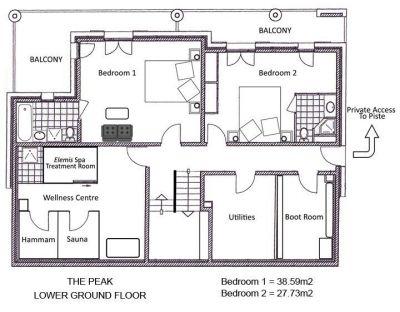 The Peak Chalet Lower Ground Floor Plan in Ste Foy
