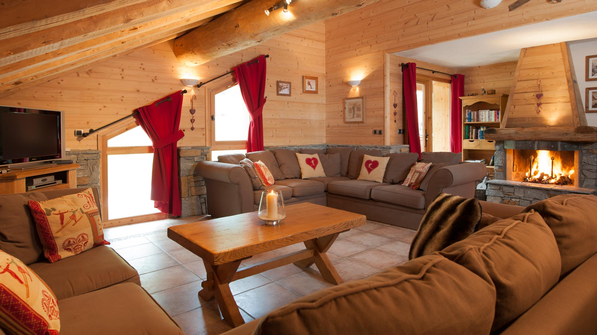 Living Area in La Vanoise Chalet in Ste Foy
