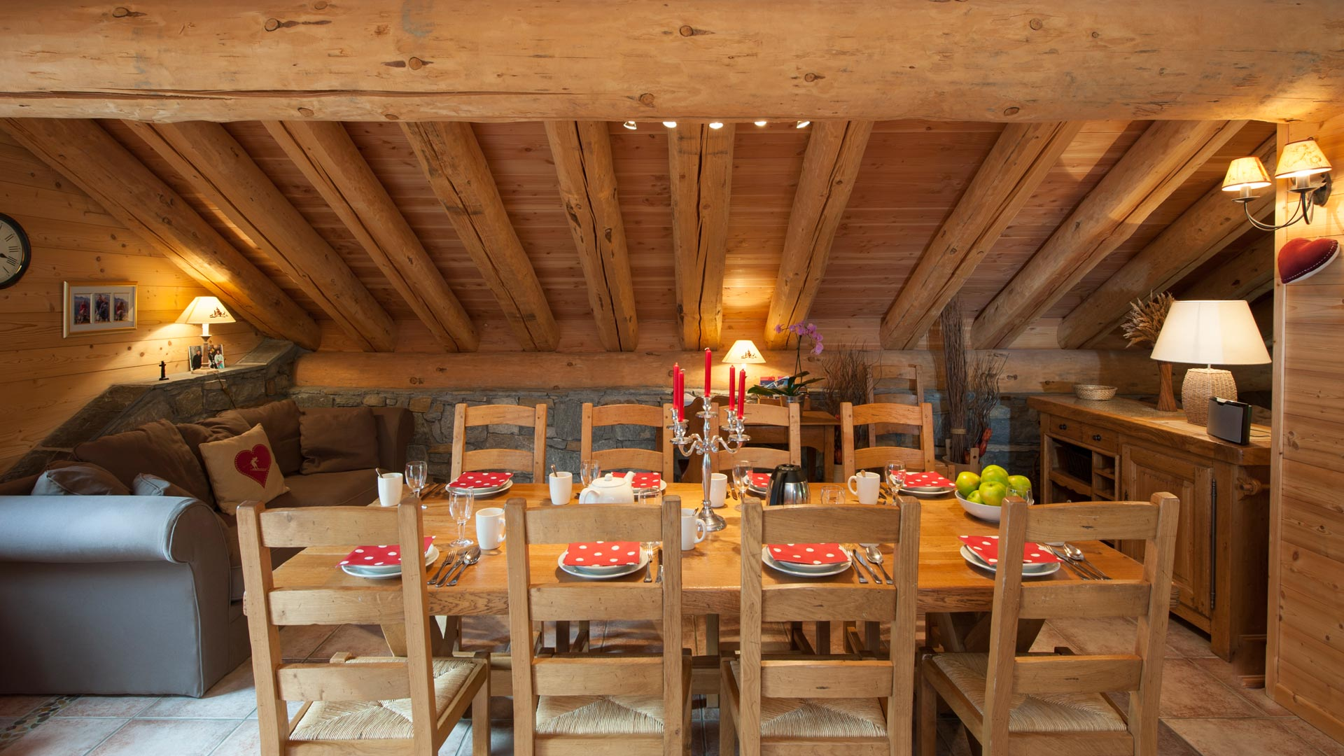 Dining Area in La Vanoise Chalet in Ste Foy