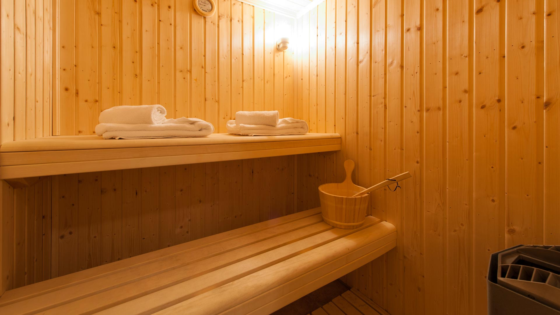 Sauna in La Vanoise Chalet in Ste Foy