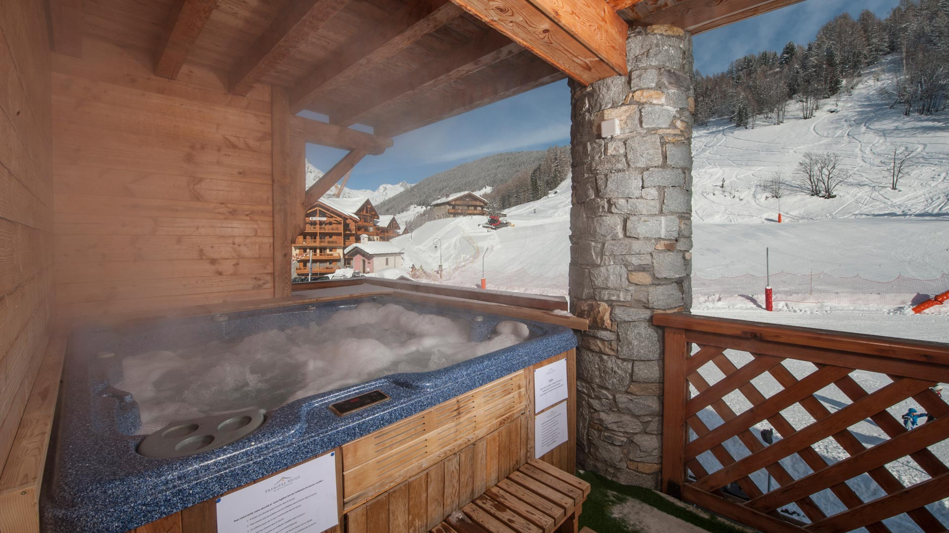 Hot Tub in La Vanoise Chalet in Ste Foy