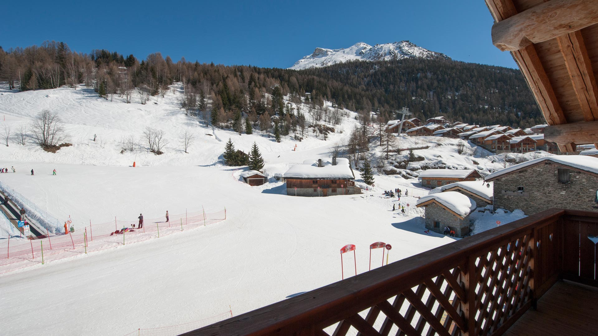 Views from the balcony of La Vanoise Chalet in Ste Foy
