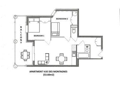 Vue Des Montagnes Apartment Floor Plan in Ste Foy